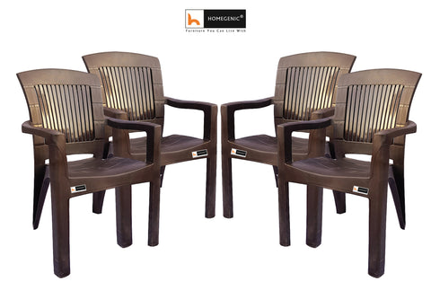 Jaguar Moulded Chair (Weather Brown) Long Back Support - HOMEGENIC