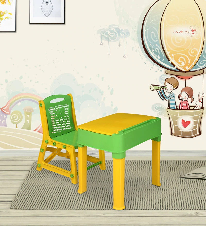 Nilkamal Apple Junior Set, Nilkamal Study Table Set for Kids