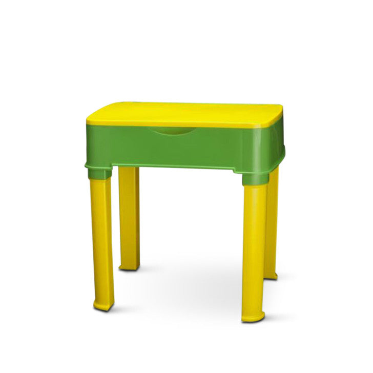 Nilkamal Apple Junior's Study Table Set -Yellow And Green - HOMEGENIC