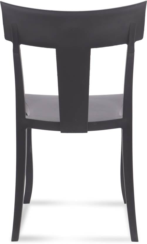 Bison 6 Seater Dining Table Set with Deck Chairs (Black) - HOMEGENIC