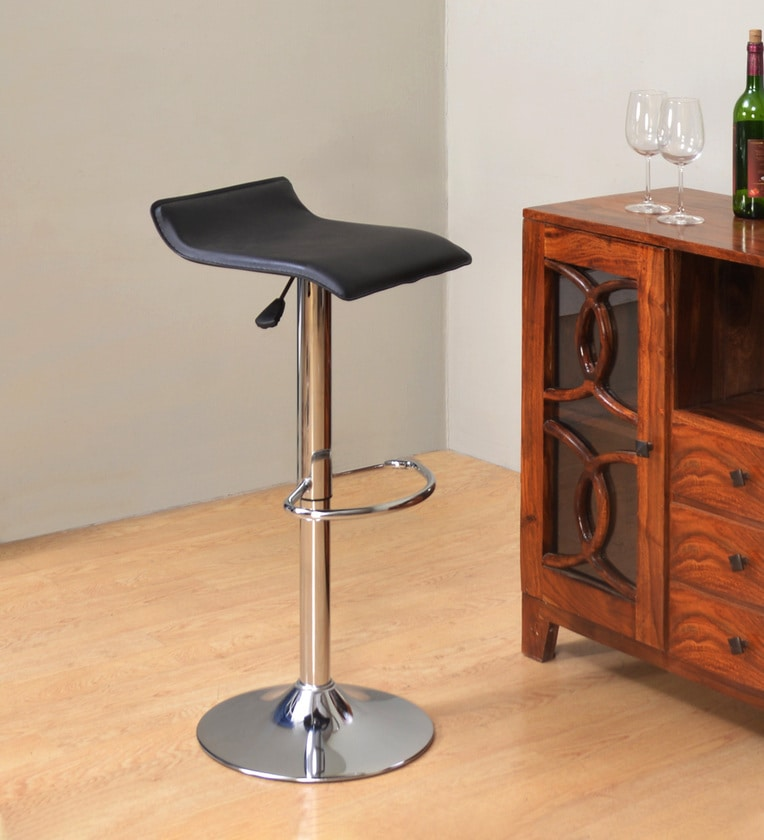 Nilkamal Bling Bar Stool for Kitchen/Office/Bar (Black)