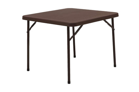 Miyami Blow Mould Square Table (Globus Brown) - HOMEGENIC