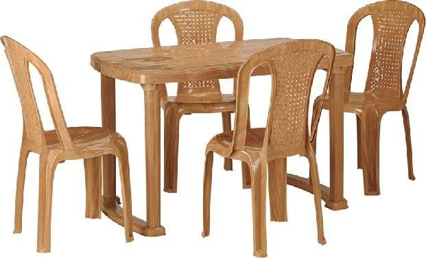 Nilkamal Shahenshah 4 Seater Dining Set with 4 Chairs - HOMEGENIC