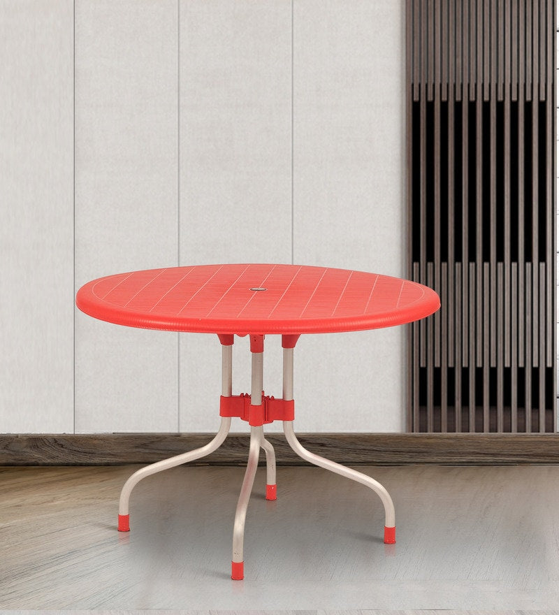 Cherry Round Dining Table for Living Room - HOMEGENIC