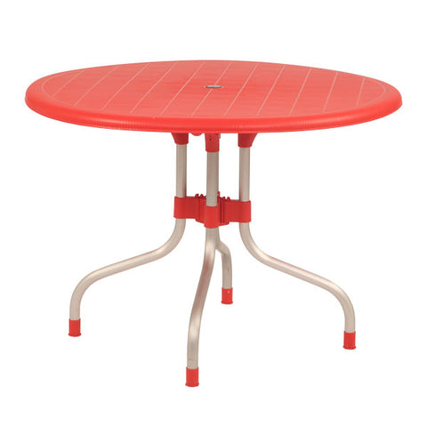 Cherry Round Dining Table Round (Red) - HOMEGENIC