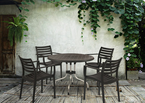 Cherry 4 Seater Dining Table Set with Empire Chairs (Black) - HOMEGENIC