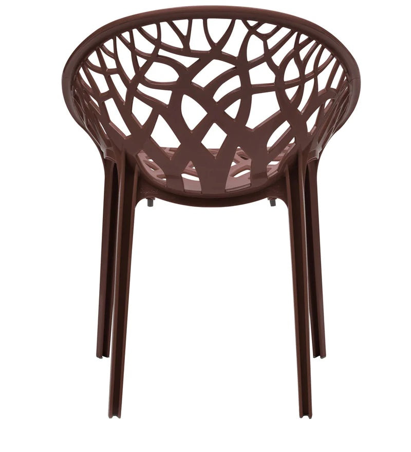 Nilkamal Crystal PP Chairs (Weather Brown Color)