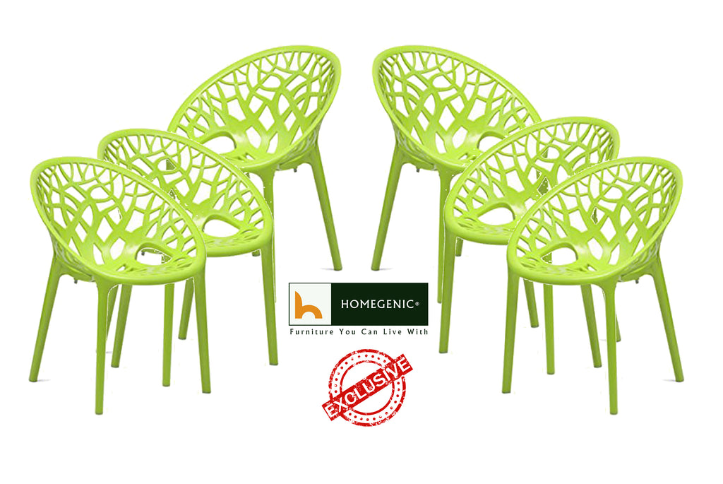 Nilkamal Crystal PP Chairs (Lime Green Color)