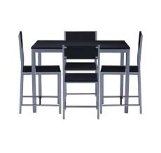 Nilkamal Wigo Four Seater Dining Table Set (Glossy Finish, Black) - HOMEGENIC