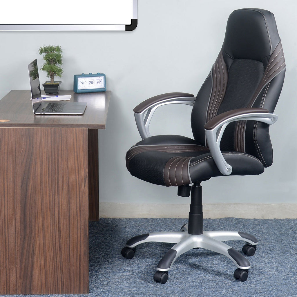 Nilkamal Royce High Back Office Chair (Black).