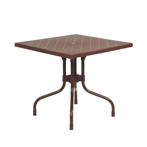 Olive Square Dining Table Round (Globus Brown) - HOMEGENIC