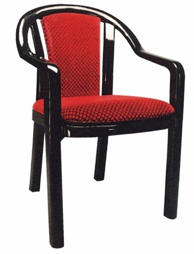 Supreme Ornate Chair Home and Office (Red-Black/Rosewood-Brown) - HOMEGENIC