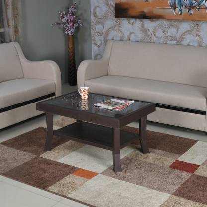 Nilkamal Rogue Coffee Table Set with 4 Passion Chairs (Weather Brown).