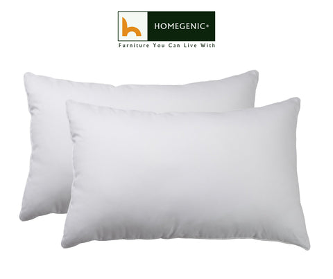 Nilkamal Comfy Soft Microfibre Pillows (24 in X 16 in, White)  Set of 2 - HOMEGENIC