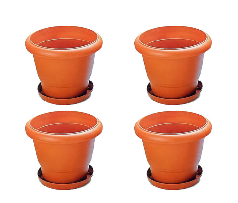 "Nilkamal Planters 10"" Set of 4 with Tray - HOMEGENIC"