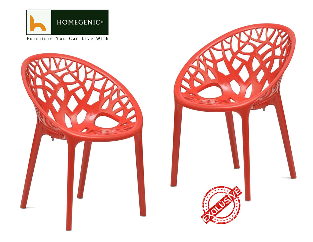 Nilkamal Crystal PP Chairs (Red Color)