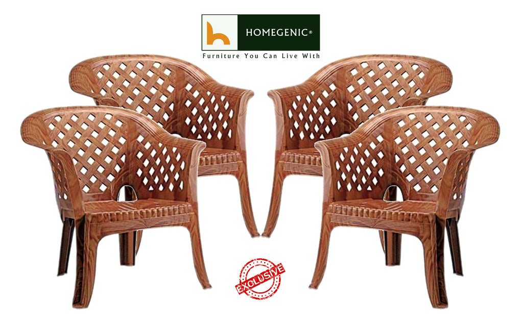 Nilkamal Solocane Sofa Chair (Pear Wood) - HOMEGENIC