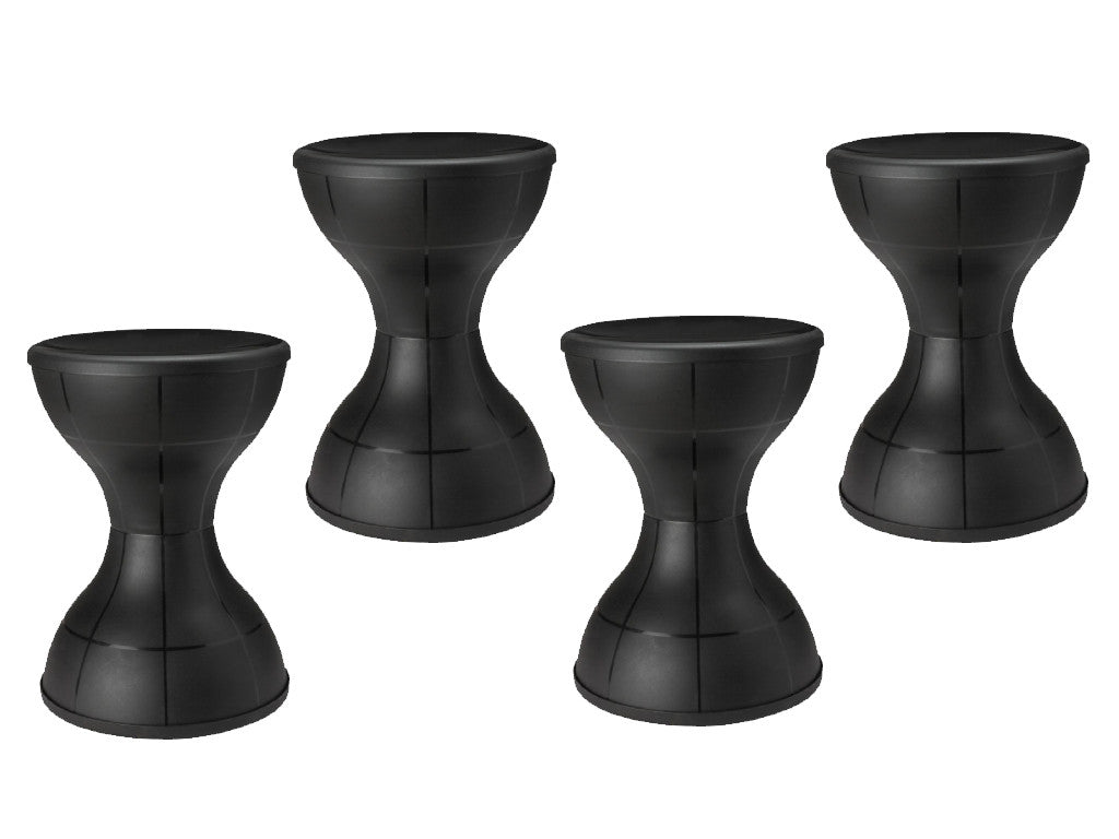 Nilkamal Plastic Stool Set of 04 (Black)