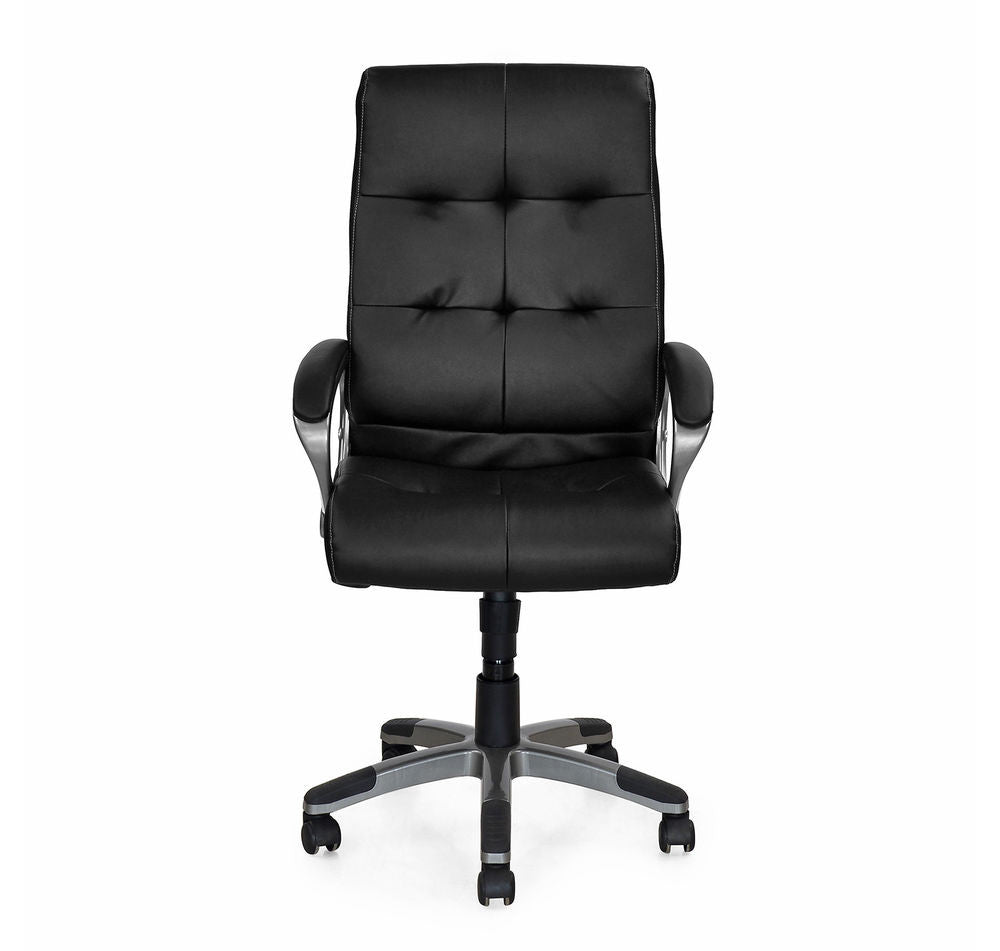 Nilkamal Veneto Office Chair (Black) - HOMEGENIC