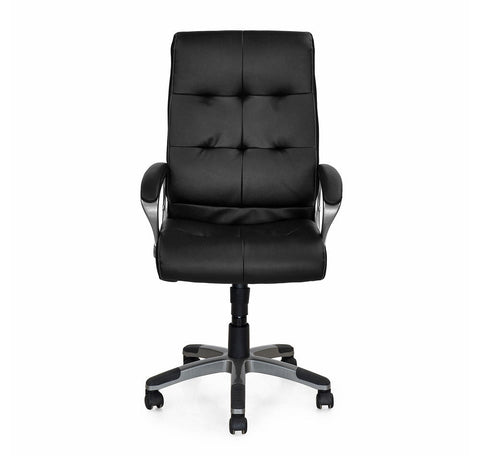 Nilkamal Veneto Office Chair (Black) Leatherette Material - HOMEGENIC
