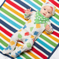 Rainbow Piggy Zip Sleepsuit