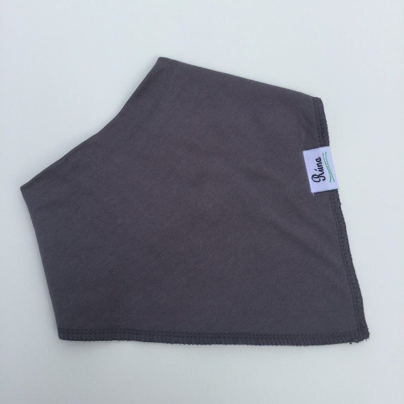Rúna Baby Dark Grey Organic Cotton Bandana Bib