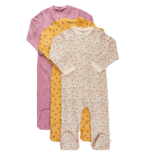 Pippi Cotton Sleepsuit Set (3 Sleepsuits)