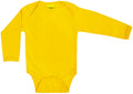 Long Sleeve Yellow Organic Cotton Bodysuit