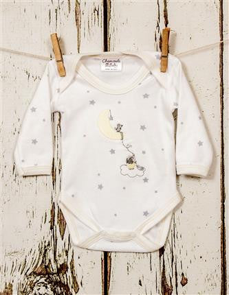 Elephant and mouse long sleeve baby vest