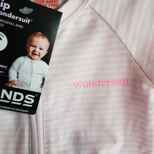 BONDS Peony Dream White Stripe Wondersuit