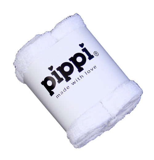 Pippi Terry Facecloth - 4 Pack -White