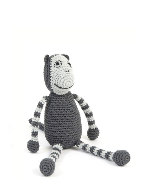 Grey Monkey Teddy Handmade Crocheted Monkey