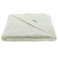 Pippi Organic Cotton Hooded Towel - Ivory/Cream