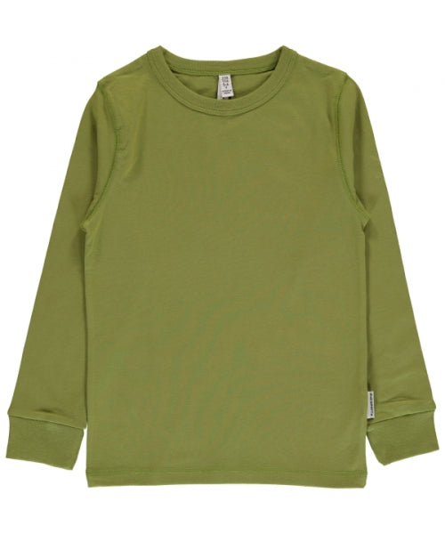 Maxomorra Apple Green Long Sleeve Top