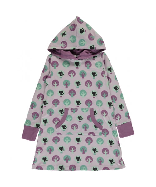 Maxomorra Park Print Long Sleeve Hooded Sweat Dress