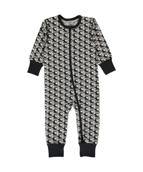 Maxomorra Helicopter Print Long Sleeve Zip Rompersuit