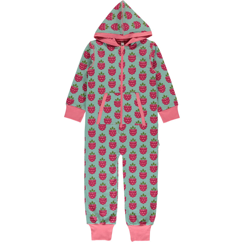 Maxomorra Raspberry Print Hooded Onesie