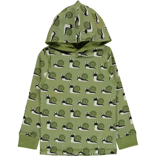 Maxomorra Snail Print Long Sleeve Hood Top