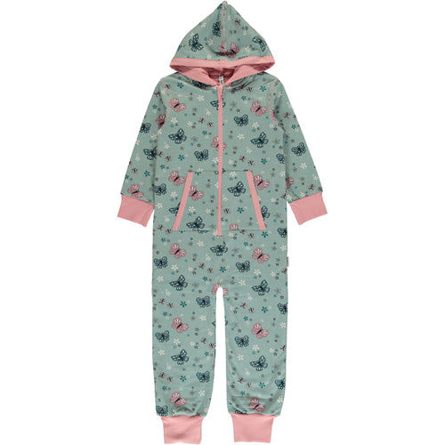 Maxomorra Butterfly Print Hooded Onesie