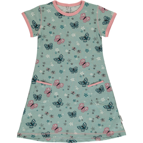 Maxomorra Butterfly Print Short Sleeve Summer Dress