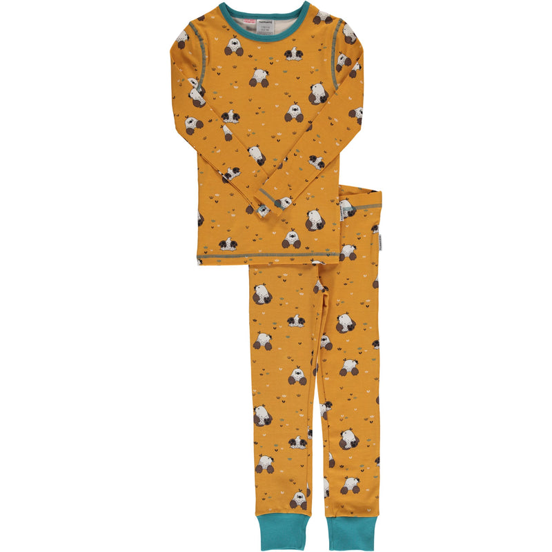 Maxomorra Mole Print Long Sleeve Pyjamas Set Slim Fit
