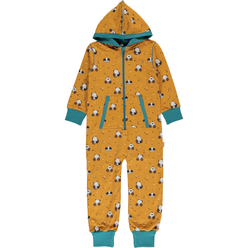 Maxomorra Mole Print Hooded Onesie