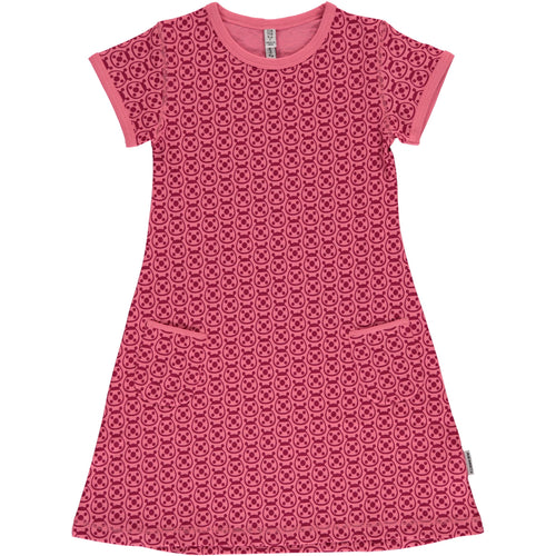 Maxomorra Ladybug Print Short Sleeve Summer Dress