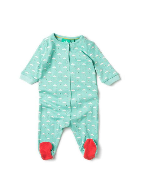 Light As A Cloud Waterfall Organic Cotton Babygrow