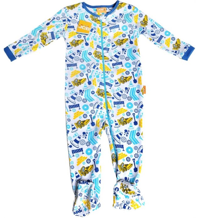 Zippy All-in-one Building Site print Zip Babygrow