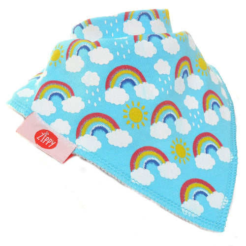 Zippy Bandana Rainbow Print Dribble Bib