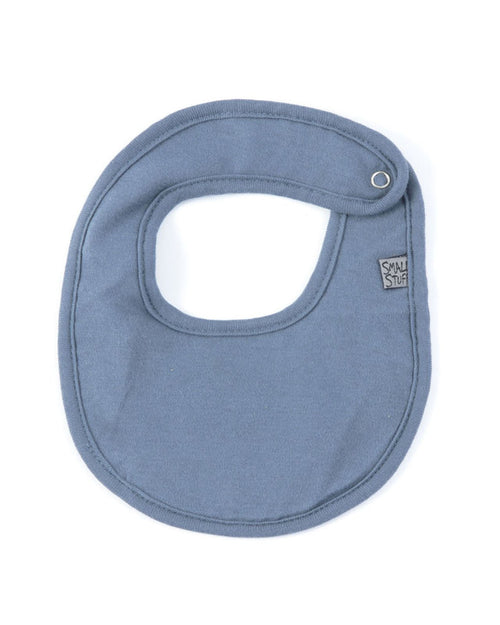 Blue Cotton Dribbler Bib