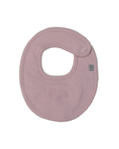 Rose Pink Cotton Dribbler Bib