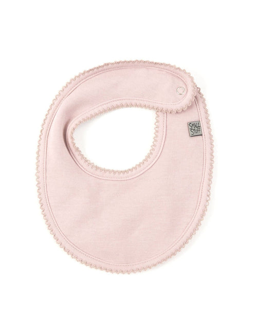 Girls Soft Pink Dribbling Bib