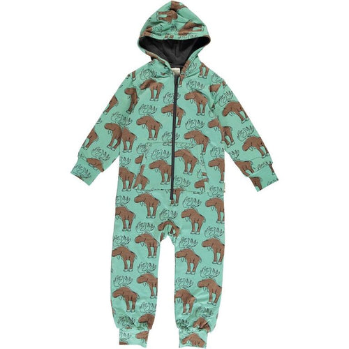 Maxomorra Moose Print Hooded One Piece